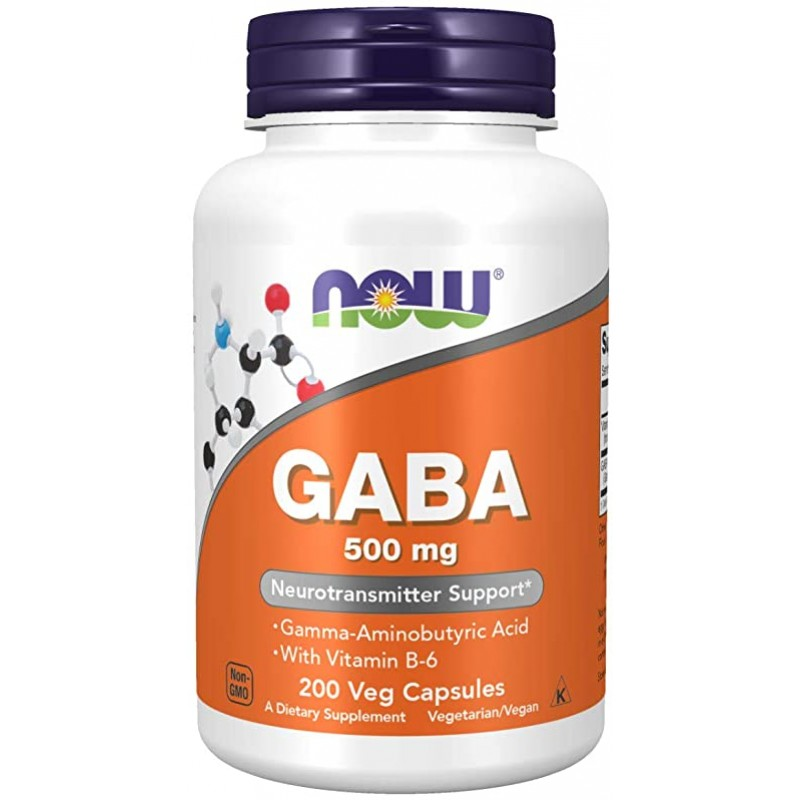 NOW Gaba 500 mg vege 200 kapslit