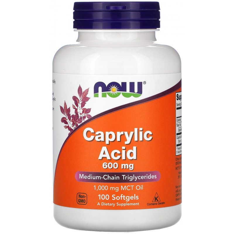 Kaprüülhape 600 mg 100 kapslit