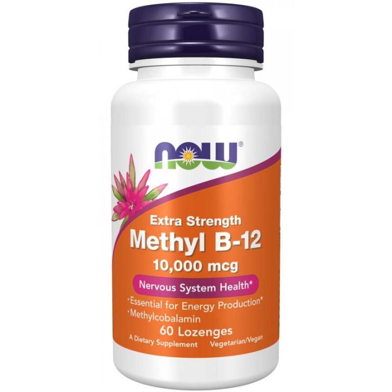NOW Methyl B12 10000 mcg 60 pastille