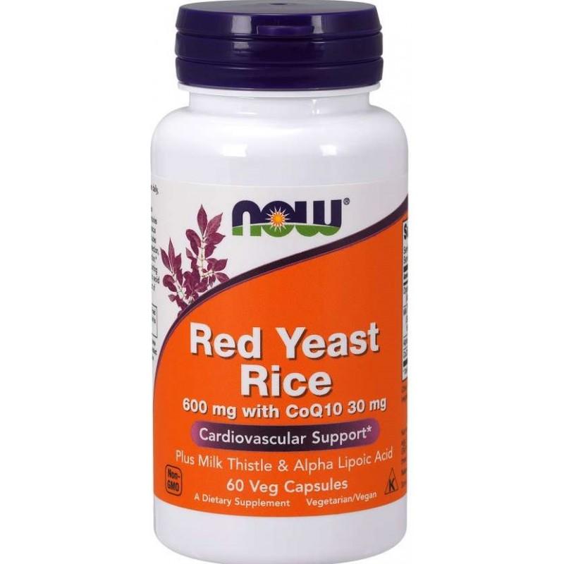 NOW Red Yeast Rice 600 mg 60 vege kapslit - Punane pärmiriis