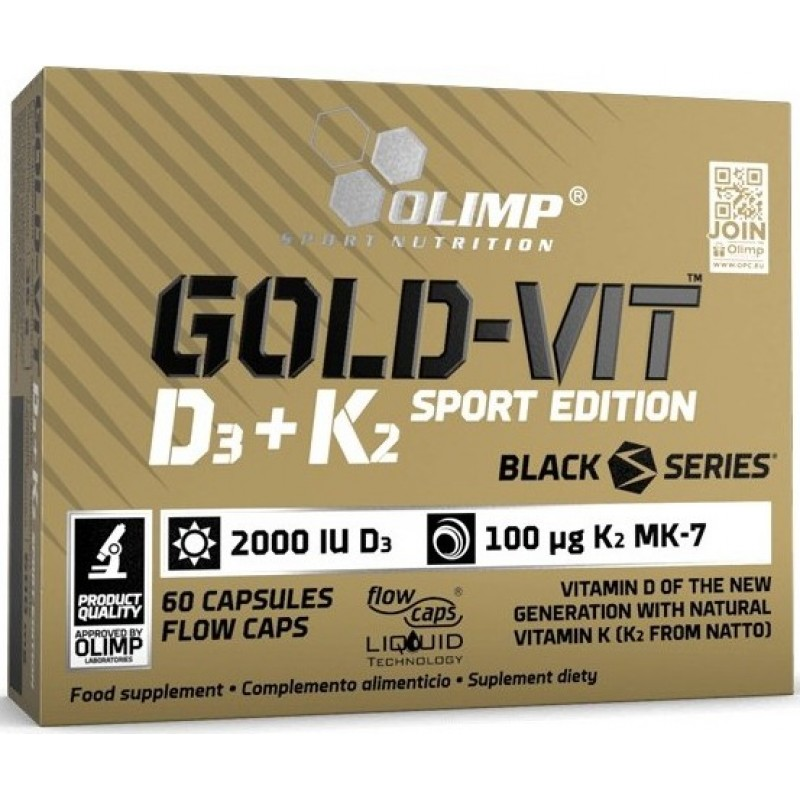 Gold Omega 3 D3+K2 Sport Edition 60 kapslit