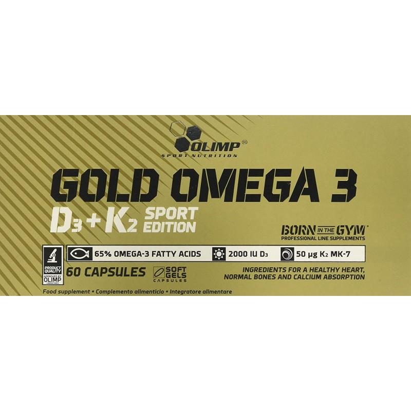 Olimp Gold Omega 3 D3+K2 Sport Edition 60 kapslit foto