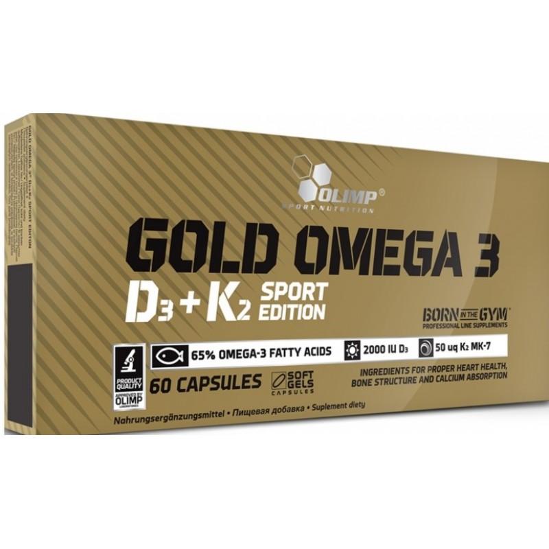 Olimp Gold Omega 3 D3+K2 Sport Edition 60 kapslit