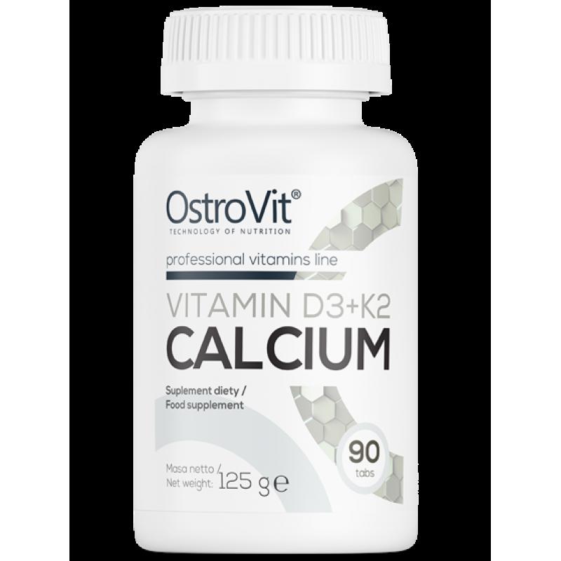 D3-vitamiin + K2 + kaltsium 90 tabletti