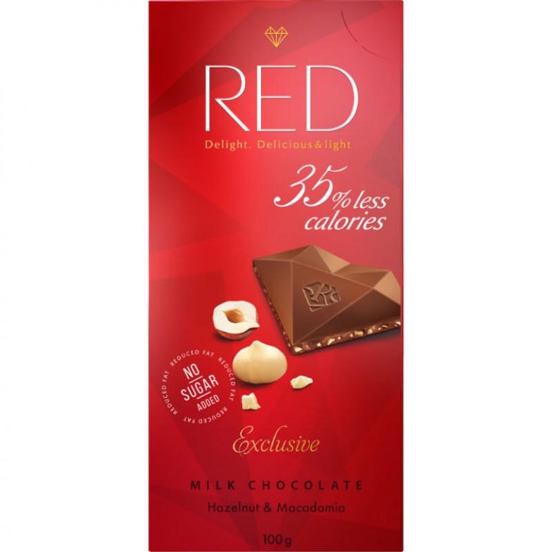 Red Piimašokolaad sarapuu- ja makadaamiapähklitega 100 g