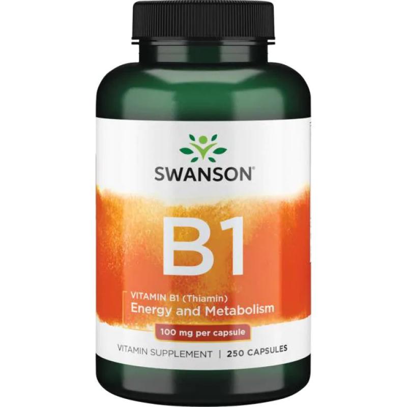Swanson Vitamiin B-1 100 mg 250 kapslit