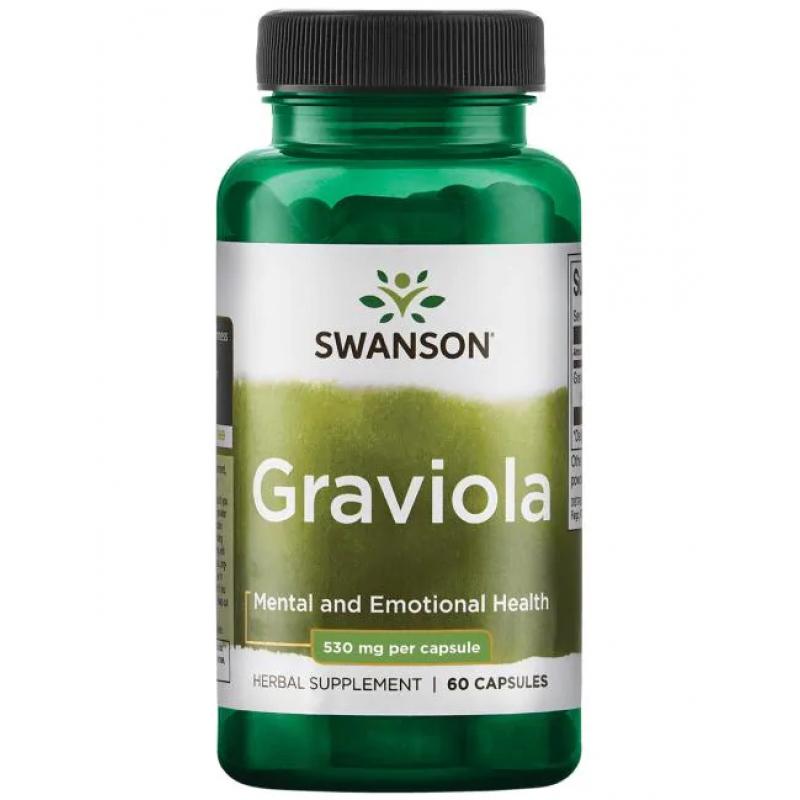 Swanson Graviola 530 mg 60 kapslit