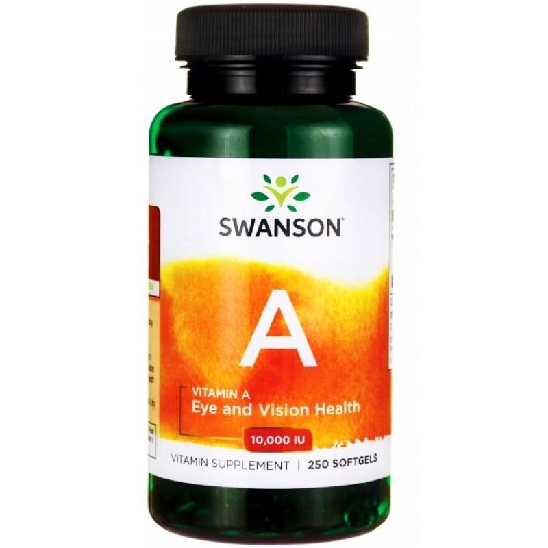 A-vitamiin (10 000 rü) 250 kapslit