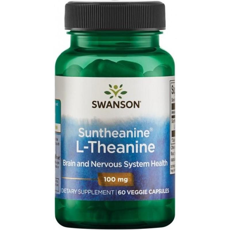 Swanson Suntheanine® L-teaniin 100 mg 60 vege kapslit