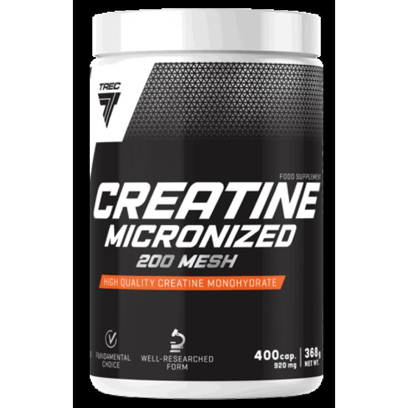 Trec Nutrition Creatine micronized 200 mesh- Kreatiinmonohüdraat 400 kapslit