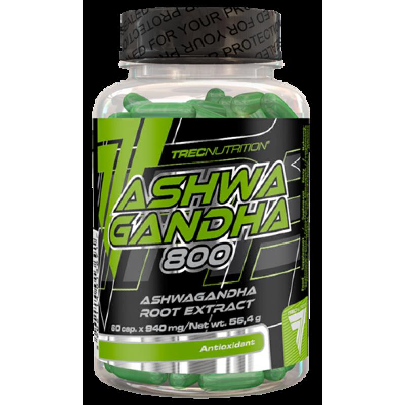 Trec Nutrition Ashwagandha 800 - Ashwagandha juureekstrakt - 60 kapslit