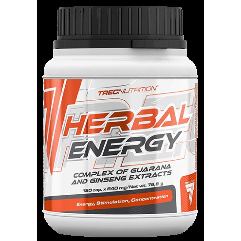Trec Nutrition Herbal Energy - guaraana ja ženšenni ekstraktid - 120 kapslit