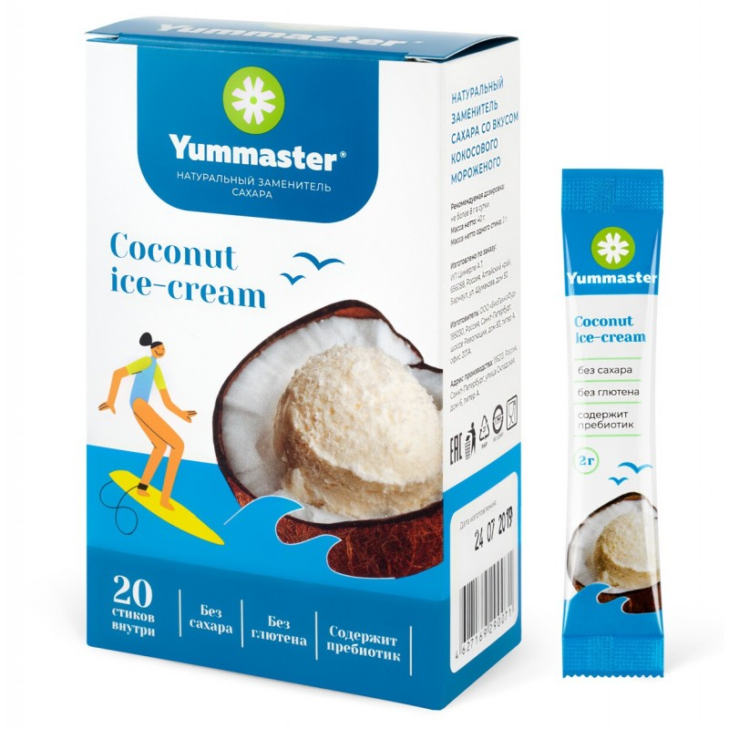 Naturaalne suhkruasendaja -Coconut Ice-Cream- 20 Paks