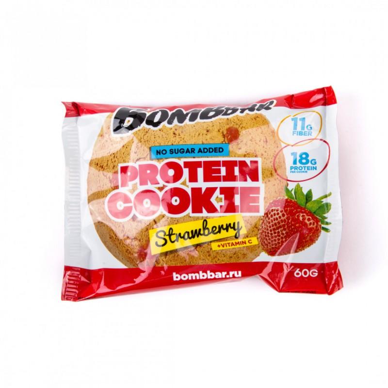 Bombbar Proteiiniküpsis 60g, maasika foto