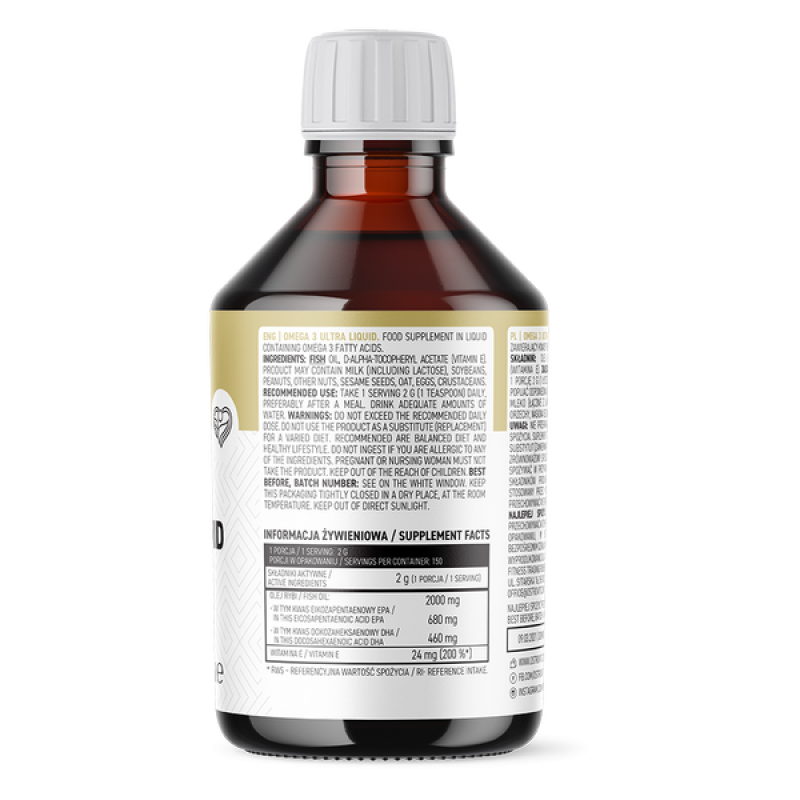 Omega 3 Ultra Liquid 330 ml Oomega 3  rasvhapped foto