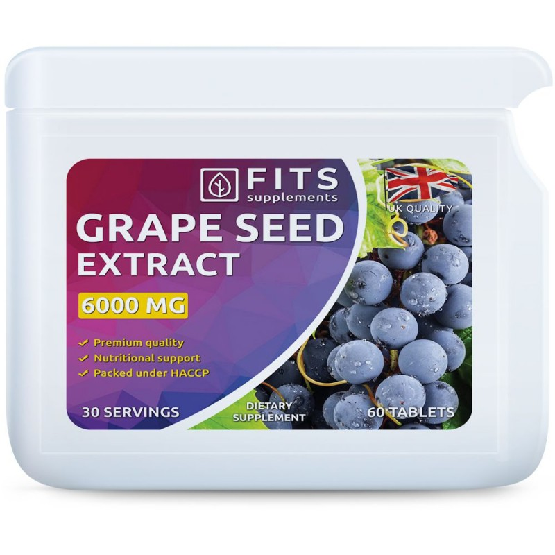 FITS Grape Seed viinamarjaseemne ekstrakt 6000 mg tabletid