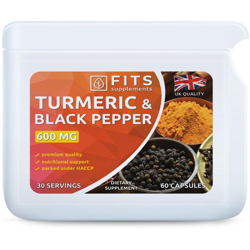 FITS Kurkumiin 600 mg Musta pipraga kapslid