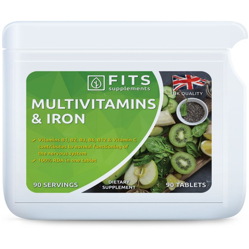 FITS Multivitamiinid + Raud tabletid N90