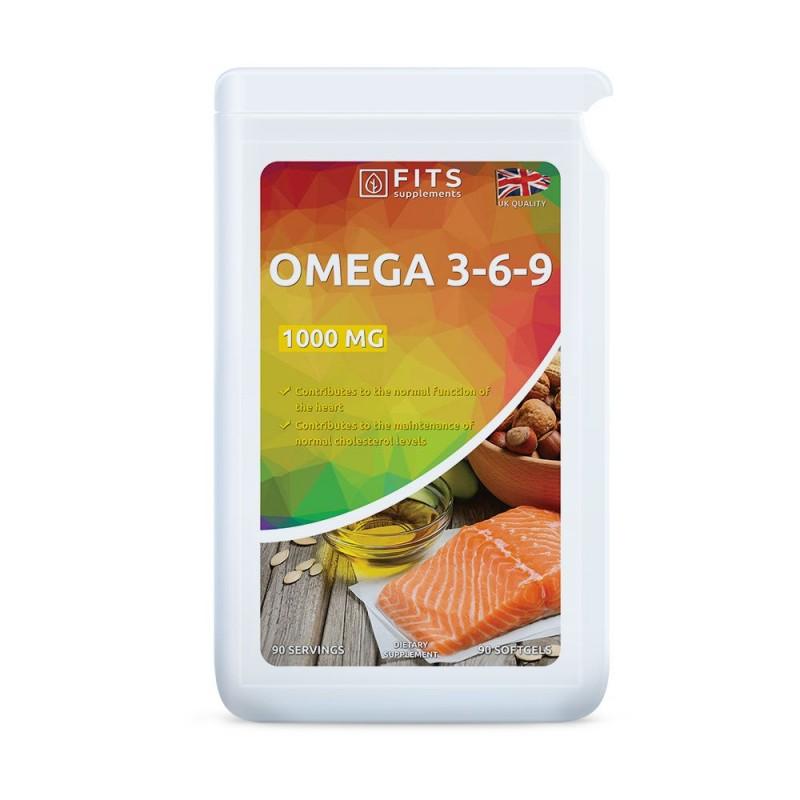 FITS Omega 3-6-9 õli 1000 mg kapslid N90
