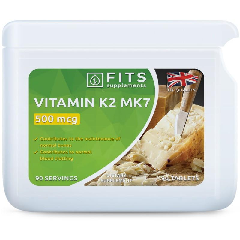 FITS K2-Vitamiin 500 mcg tabletid N90