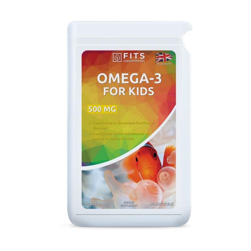 FITS Omega-3 kalaõli lastele 500 mg kapslid N90