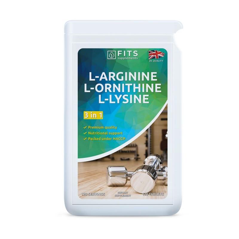 L-Arginiin L-Ornitiin L-Lüsiin tabletid N120
