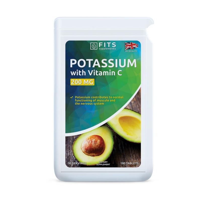 Kaalium 200 mg  + C-Vitamiin tabletid N180