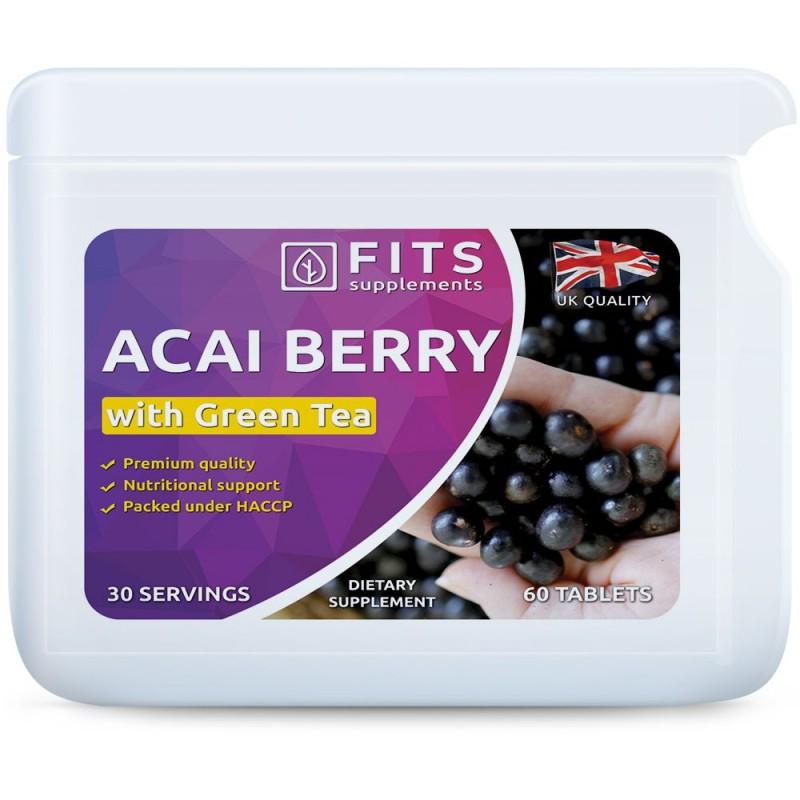 FITS Acai marjad 2000 mg ja Roheline tee 1350 mg tabletid