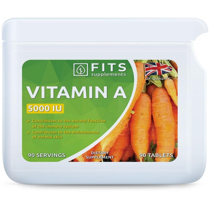 FITS A-Vitamiin 1500 mcg (5000IU) tabletid N90