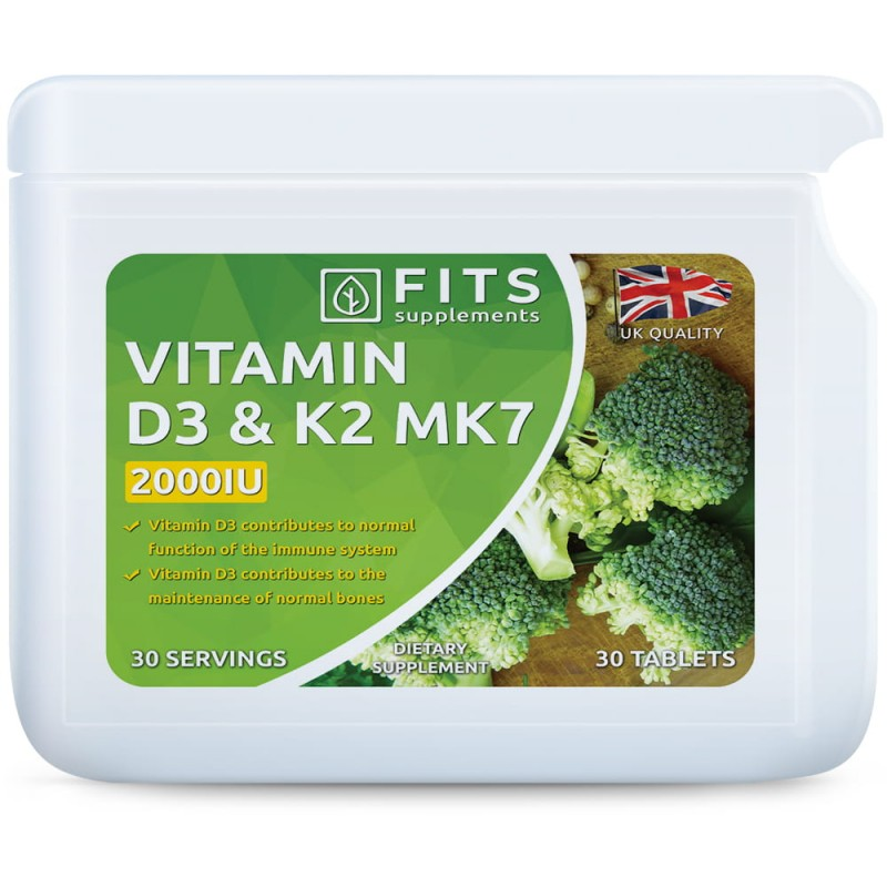 FITS D3-Vitamiin 50 mcg (2000IU), K2-Vitamiin tabletid