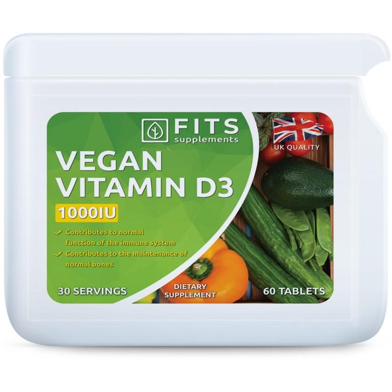 FITS D3-Vitamiin veganitele 25 mcg (1000IU) tabletid