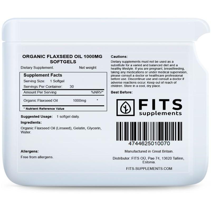 Linaseemneõli 1000 mg kapslid Linaseemneõli foto