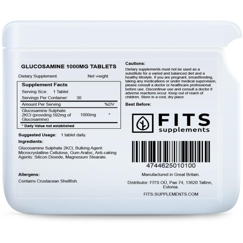 FITS Glükoosamiin 1000 mg tabletid foto