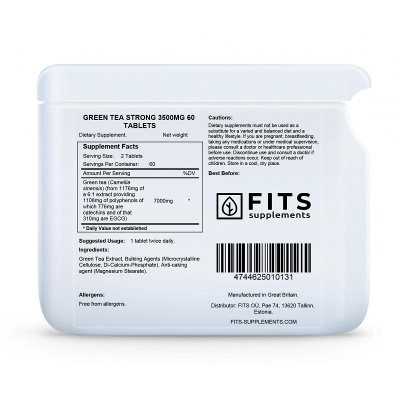 FITS Rohelise tee ekstrakt 3500 mg tabletid foto