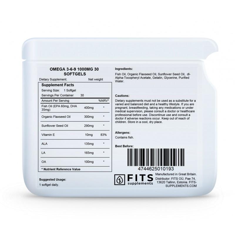 Omega 3-6-9 õli 1000 mg kapslid