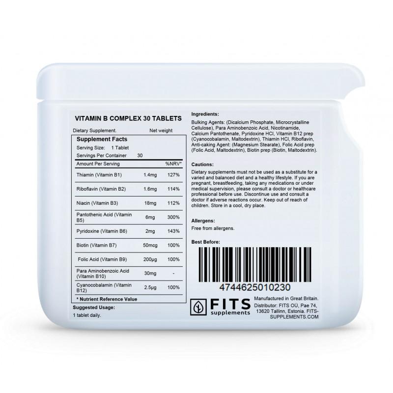 FITS B-Vitamiini kompleks tabletid foto