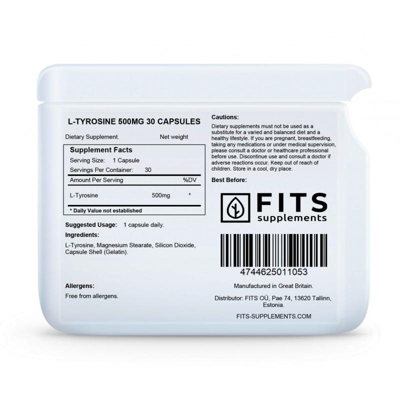 L-Türosiin 500 mg kapslid