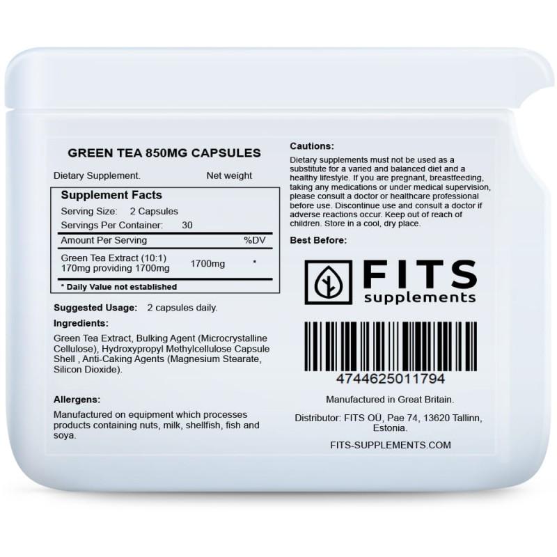Rohelise tee ekstrakt 850 mg kapslid Ravimtaimed foto
