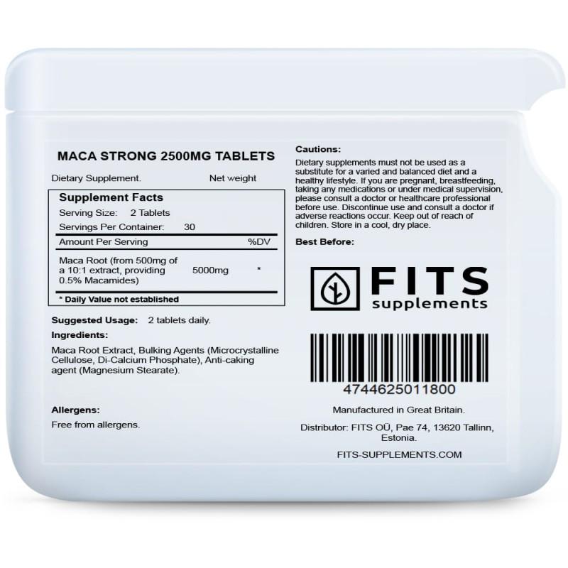 FITS Peruu Maca Strong 2500 mg tabletid foto