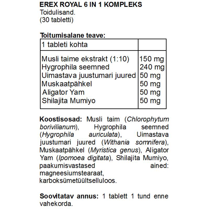 FITS Erex Royal 6 in 1 kompleks tabletid foto