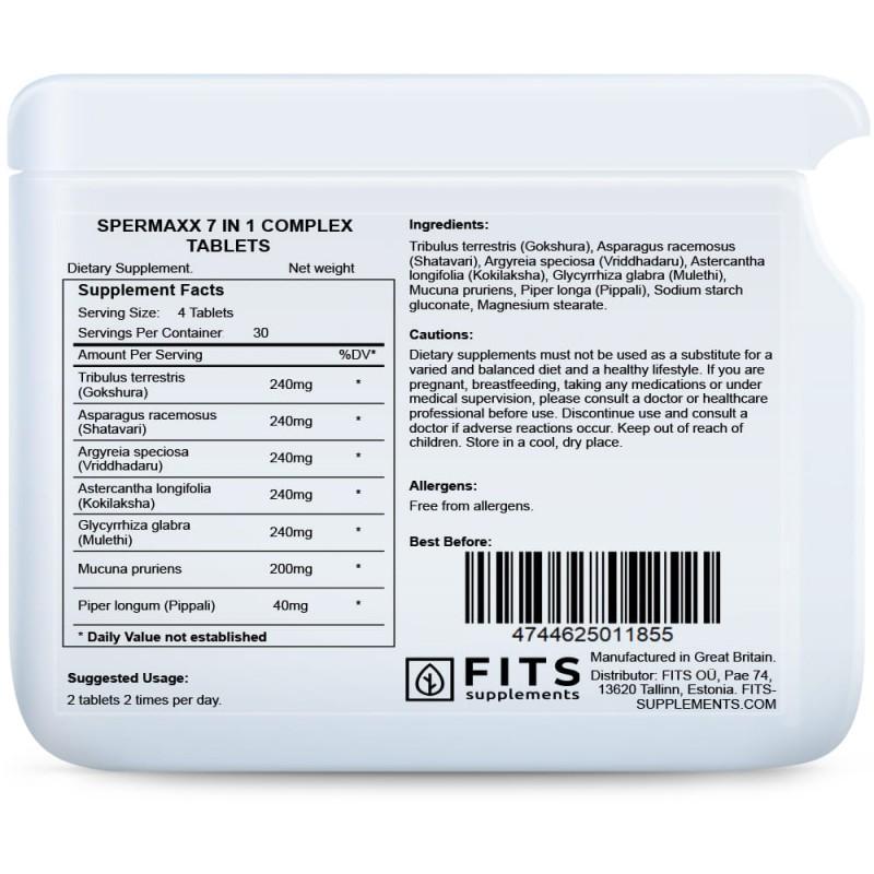 Spermaxx 7 in 1 kompleks tabletid Vitamiinid meestele foto