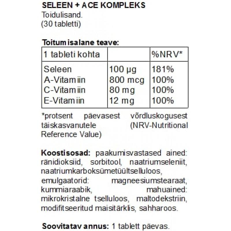 Seleen + ACE kompleks tabletid Seleen foto