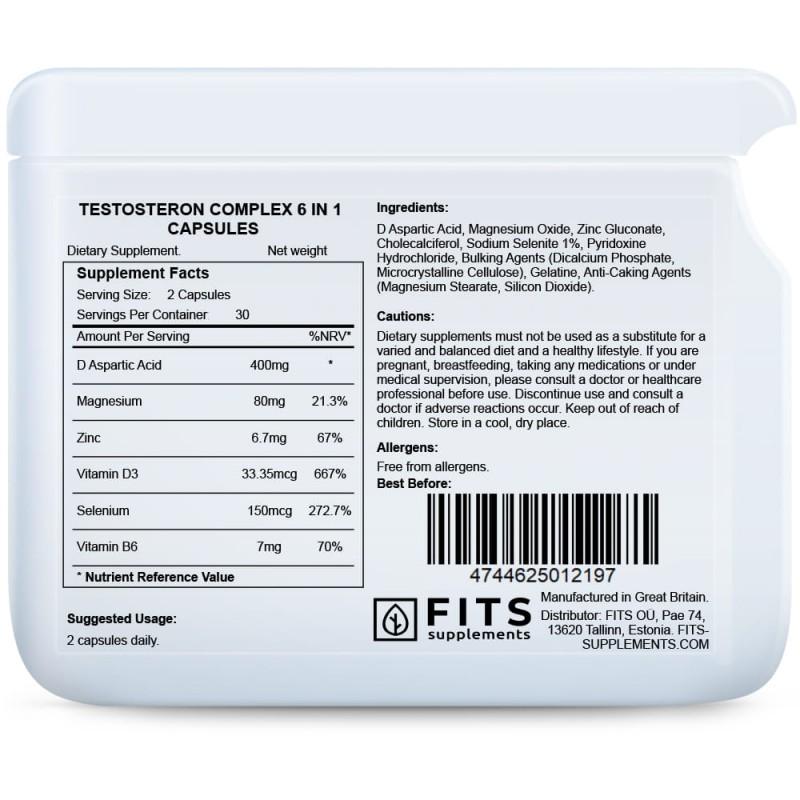 Testosteron Complex 6 in 1 kapslid