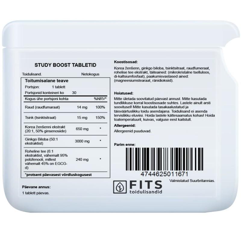 FITS Study Boost kompleks tabletid foto