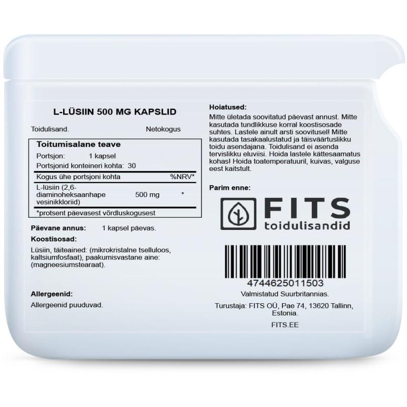 L-Lüsiin 500 mg tabletid Lüsiin foto