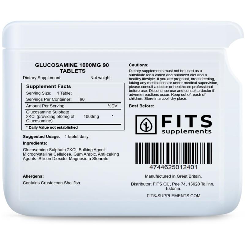 Glükoosamiin 1000 mg tabletid N90 Glükosamiin foto