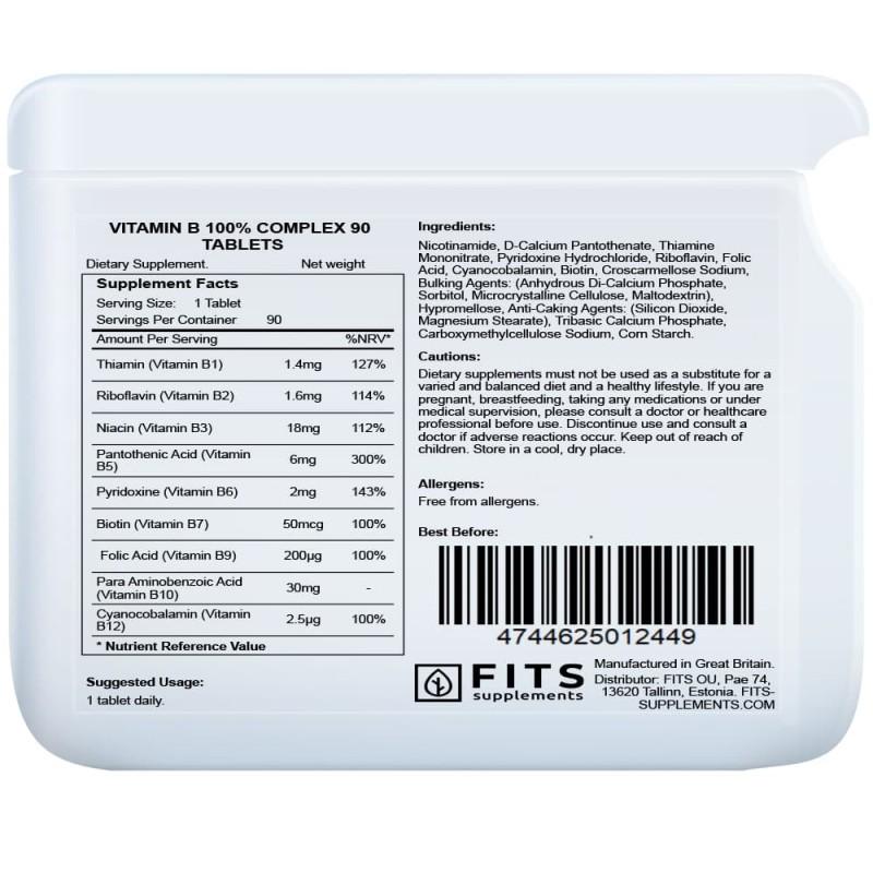 FITS B-Vitamiini kompleks tabletid N90 foto