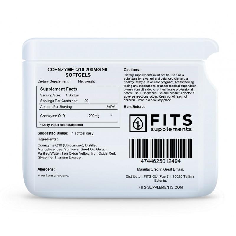 FITS Koensüüm Q10 200 mg kapslid N90 foto