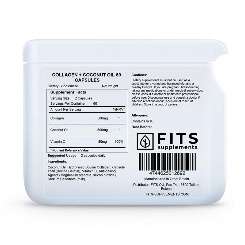 Kollageenikapslid 500 mg kookosega Kollageen foto