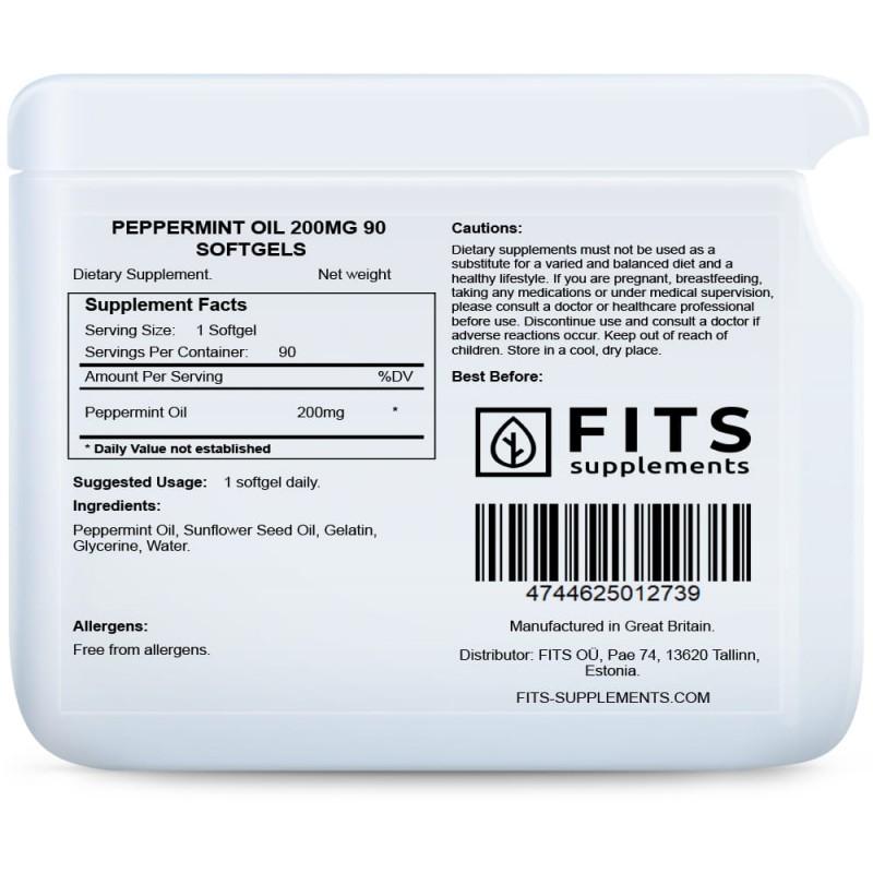FITS Piparmündiõli 200 mg kapslid N90 foto